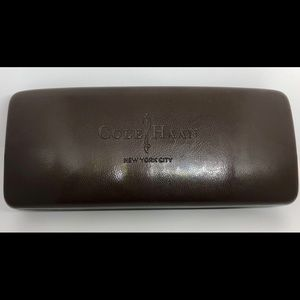 COLE HAAN leather brown hard sunglasses case - New